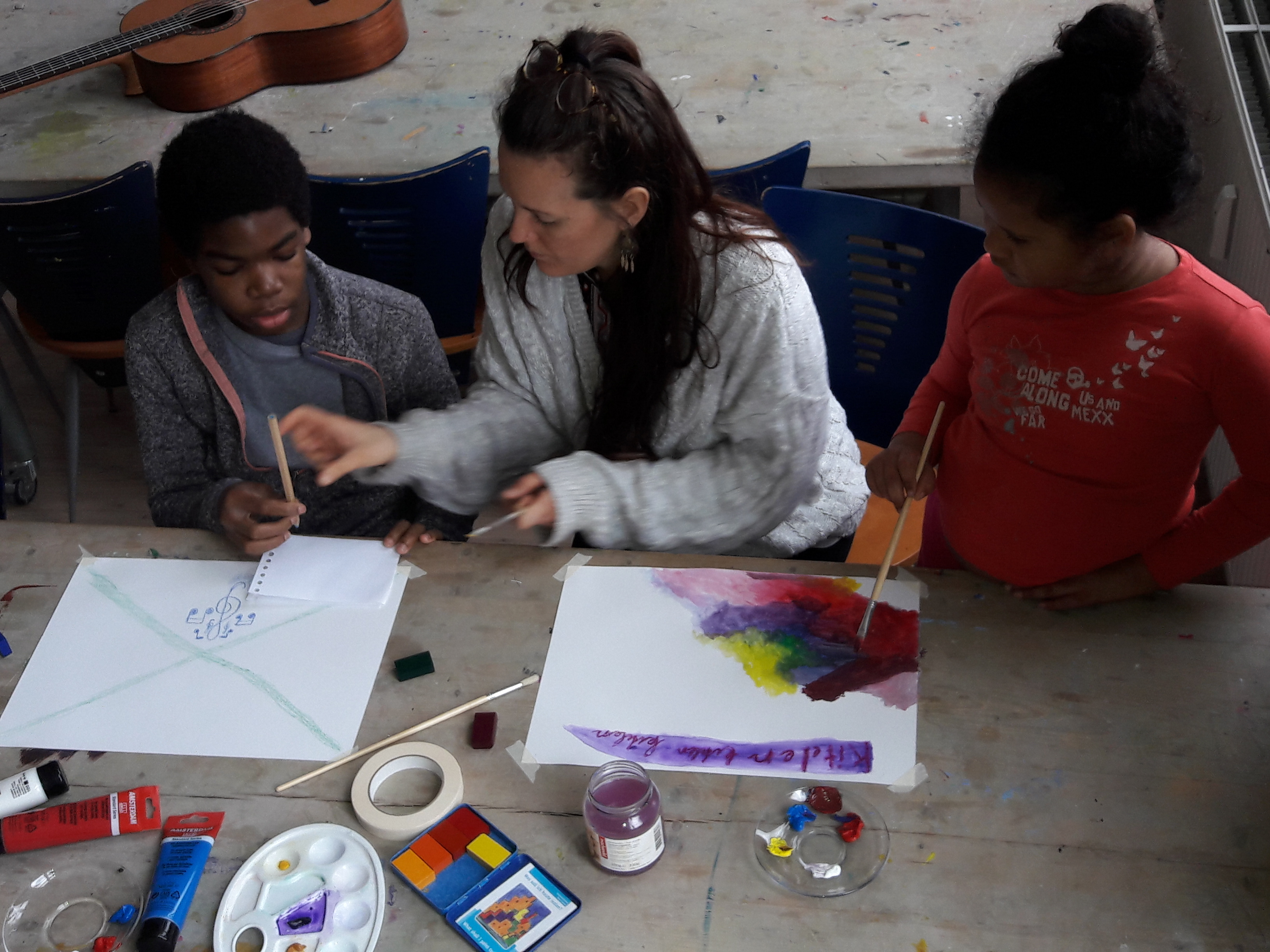 Schilder lied workshop kinderen